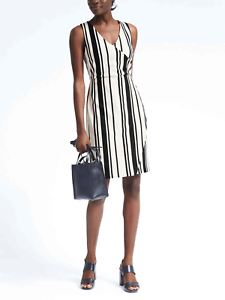 BANANA REPUBLIC 783470 WOMEN/'S STRIPE WRAP EFFECT DRESS $138.00 r5562 NWT 4 6 12