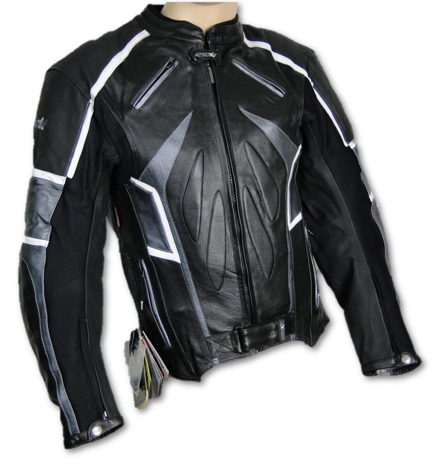 CHAQUETA DE MOTO,Chaqueta,MOTOCICLETA, MOTO,Chaqueta,MOTOCICLETA, MOTO,Chaqueta,MOTOCICLETA, CUERO, ATROX NF-1111 Talla 4XL 31a403