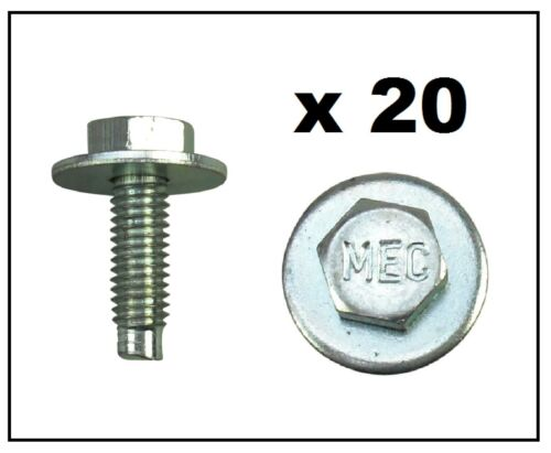 ZINC BOLT /& WASHER Pack of 20 UNIVERSAL M6x20mm