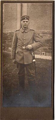 Cab Photo Soldat In Feldgrau - Um 1915