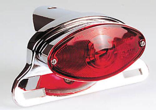 Feu arrière Cat-Eye Chrome Yamaha XVS 125 650 950 1100 Drag Star Queue Lumière NEUF