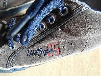 TOMMY HILFIGER schöne Ledersneakers braun Gr. 32 TOP Fm815