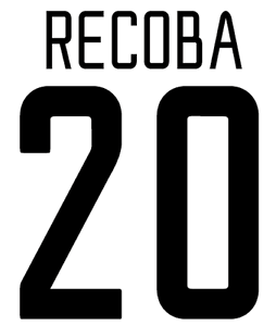 Inter Milan Recoba Nameset Shirt Soccer Number Letter Heat Print Football A 02