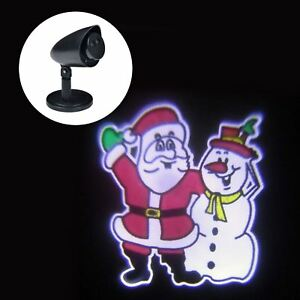 Outdoor Led Waving Santa Amp Snowman Christmas Projector