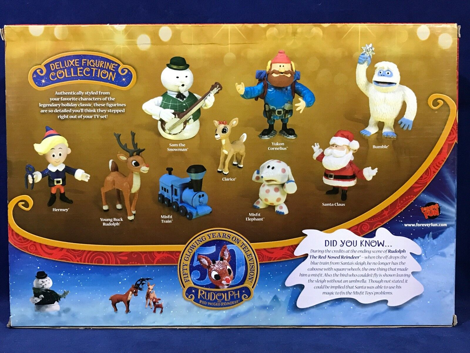 RUDOLPH Red-Nosed REINDEER Deluxe Figurine Figurine Figurine Collection DISPLAY STAND Forever Fun 9d087c