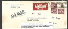DATED 1964 COVER DAYTON OH TO PETALUMA CA CERTIFIED MAIL, SEE PICTURE FOR INFO