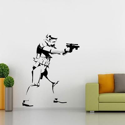 Storm Trooper Star Wars WALL STICKER Decal Art Mural Stencil Silhouette ST168
