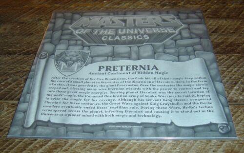 Masters of the Universe Classics map of PRETERNIA