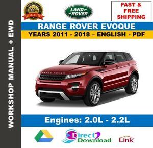 Workshop Manual Land Rover Range Rover Evoque 2011-2018 + Wiring Diagrams |  eBayeBay