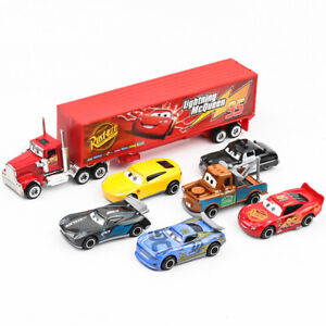 7pc-Cars-2-Lightning-McQueen-Racer-Car-amp-Mack-Truck-Kids-Toy-Collection-Set-Gifts