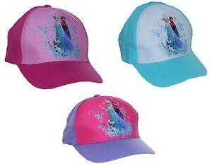 Disney Frozen Girls Summer Sun Baseball Hat Cap   eBay 4c8606b7a48
