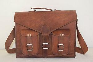 Details about Sac Cuir Vintage Bandoulière Marron Messager Femme Ordinateur  Portable Coach