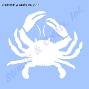 "5/"" CRAB STENCIL STENCILS TEMPLATE OCEAN NAUTICAL SEA CRAFT PAINT ART MARINE NEW"