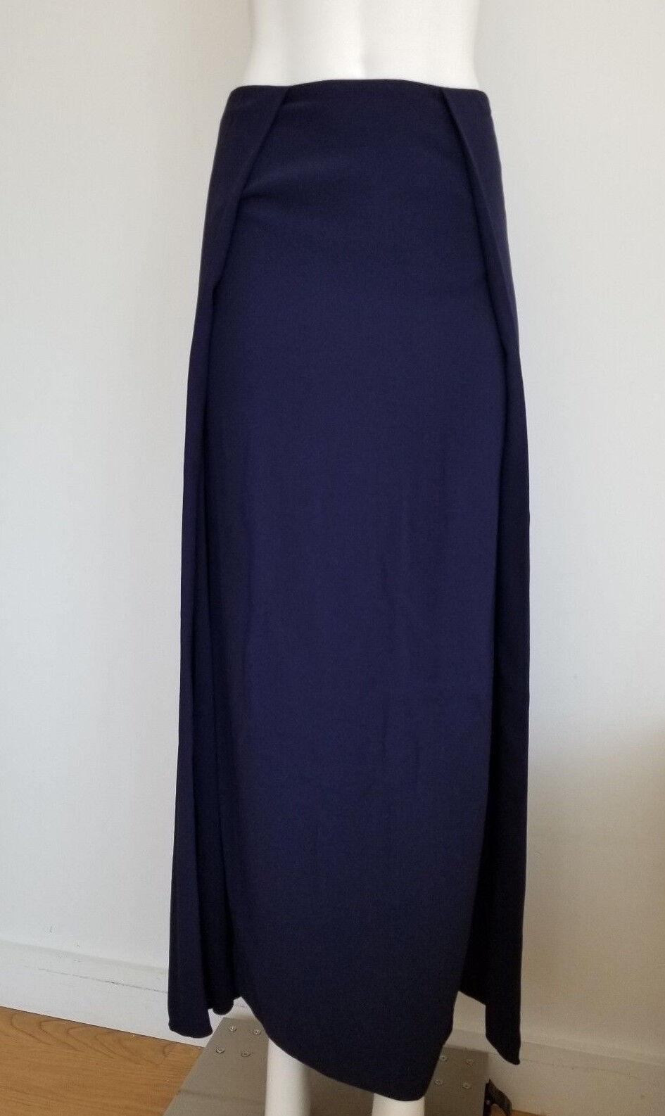 1.590  Ralph Lauren Purple Label Addison Straight Maxi Navy Skirt Size 2 XS