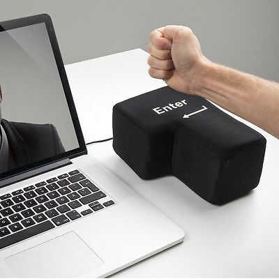Big Enter Desktop Pillow New Arrive Super Sized Enter Key USB Stress Punch Bag
