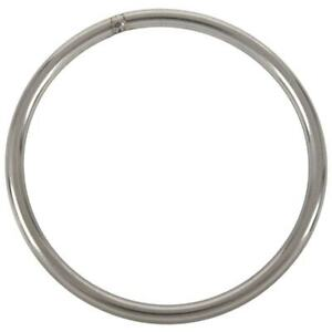 2X-M6x100mm-304-Stainless-Steel-Welded-Round-Ring-Silver-Tone-L8I3