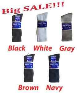3; 6 or 12 paris Diabetic CREW circulatory Sock Health Men's Cotton  ALL SIZE