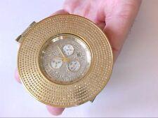 Unbelievable 69mm 20ct Joe Rodeo JJU38 Junior All Diamond Chrono Wrist Watch.