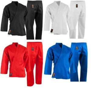 ProForce 7.5 oz. Medium Weight Uniform ALL COLORS Karate TKD Training FREE BELT