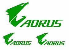 3pc GIGABYE AORUS Set Decals Stickers Wall Truck Car Computer 12 Colors