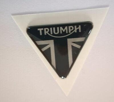1 Adesivo Resinato 3d Triumph 30 Mm Silver Speed Street Triple 1050 955 675 765