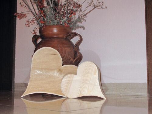 Coeur en Bois Coeur holzdeco bois massif décoration d/'intérieur extérieur Doppelherz.