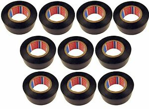 10x-TESA-PVC-Isolierband-4252-kfz-25mm-x-20m-Iso-Band-Isoband-Klebeband-MwSt-neu