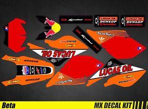 Kit D/éco Moto pour//MX Decal Kit for Beta RR 50 Lucas Oil