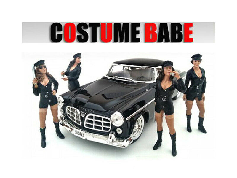 Costume Babes  4 Piece Set figure for 1  24 Scale Models par American Diorama  voici la dernière