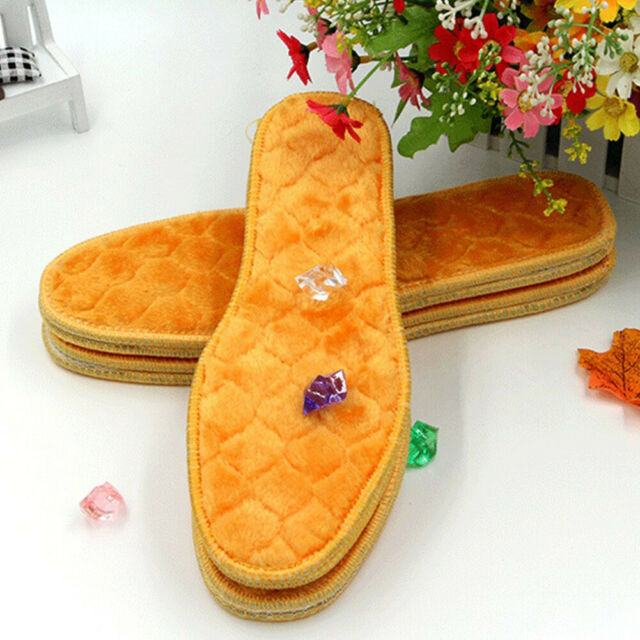 Men Women Original Thick Thermal Insoles Heated Winter Warm Shoes Soles Insert