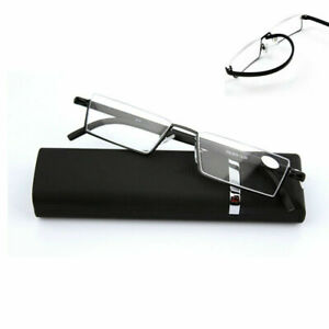 Flexible-Fashion-Black-Tr90-Half-Frame-Semi-Rimless-Glasses-Reading-Reader-Z7N1