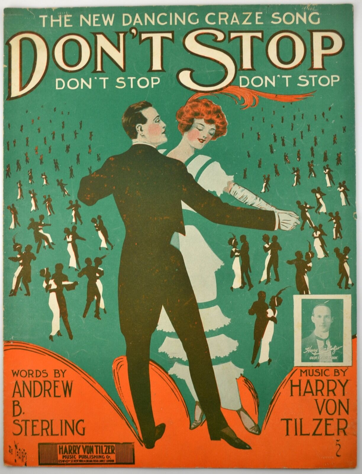 Don't Stop Don't Stop Don't Stop 1913 Sheet Music Art By Andre De Takacs