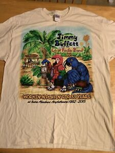 Pleasing Details About Jimmy Buffett And The Coral Reefer Band Sz Xl 2015 Tour Shirt Download Free Architecture Designs Estepponolmadebymaigaardcom