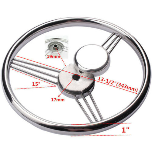 13-1//2/'/' 9 Spoke Stainless Steel Marine Boat Steering Wheel 15° Low Price