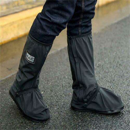 Black Reusable Waterproof Shoes Anti-slip Boot Overshoes Rain Snow Covers Lin