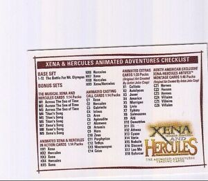 RARE-MINT-CHECKLIST-CARD-XENA-amp-HERCULES-ANIMATED-C1
