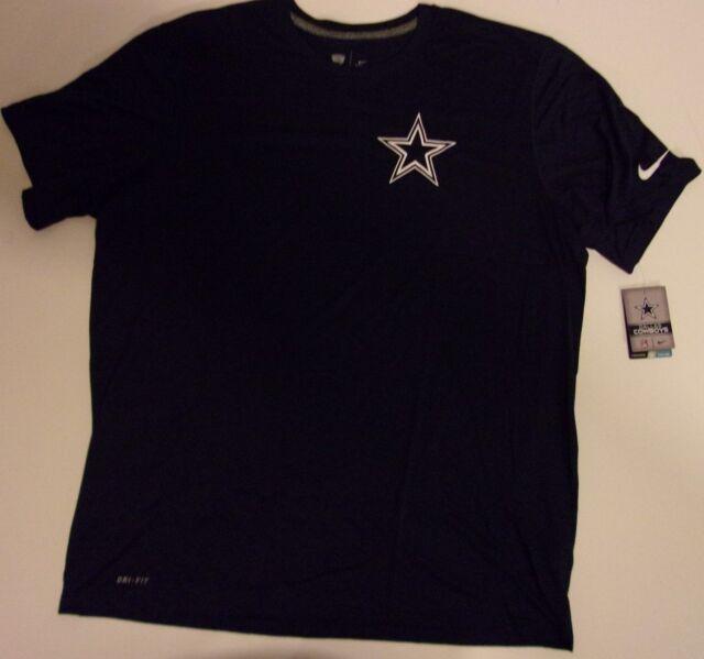 New Nike Dallas Cowboys NFL Football Dri-Fit t-shirt adult men's XL Navy Blue