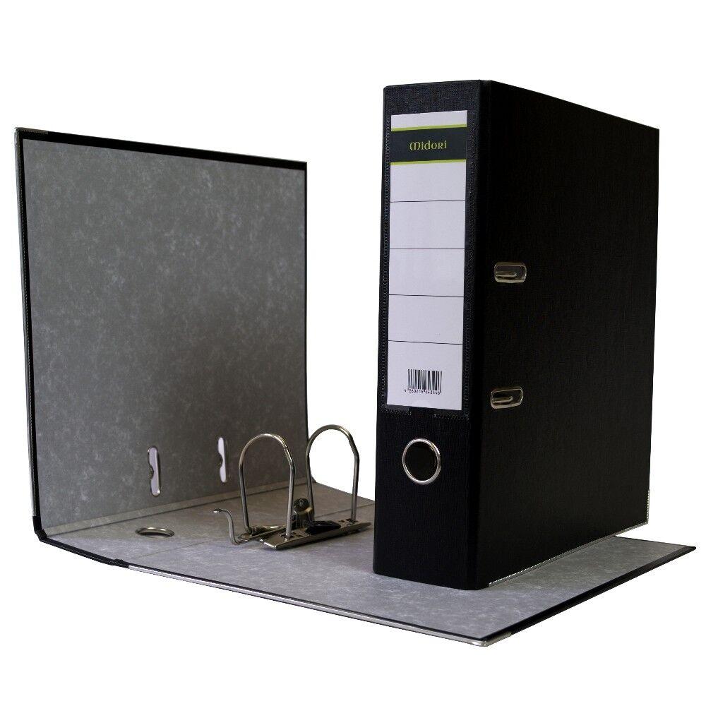 480 x Ordner A4 8cm PP Kunststoff Schwarz Aktenordner Briefordner Breit Büro | Schön geformt  | Primäre Qualität  | Exquisite Handwerkskunst