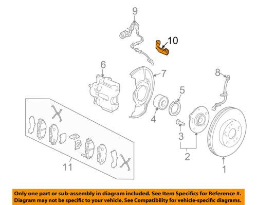 HONDA OEM 03-11 Element ABS Anti-Lock Brakes-Bracket Right 42512S9A950