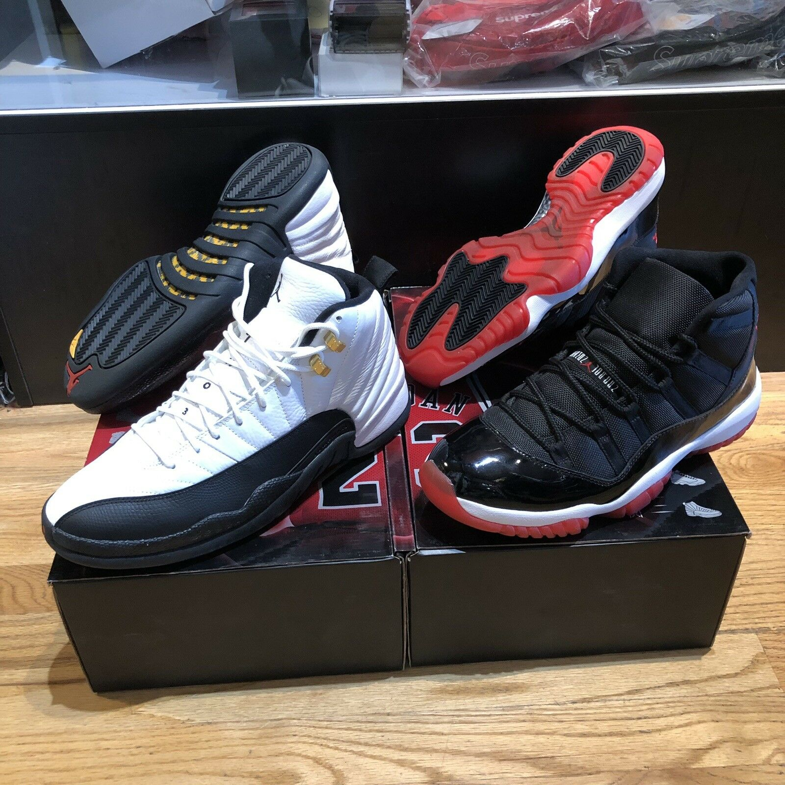 Air Jordan Collezione Countdown Pack CDP 11 12 Bred XI Taxi XII Mens Size 11 DS