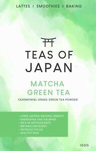 Matcha Green Tea Powder Premium Japanese Ceremonial Grade Natural & Pure UK