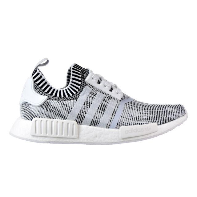 c4a9b2b92be6 By1911 adidas NMD R1 Primeknit Shoes Oreo Glitch Camo Black White 5 ...
