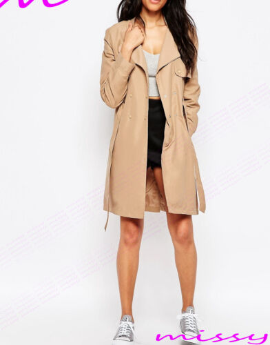 Women/'s CANVAS MAC Size 8 10 12 14 16 Ladies TRENCH JACKET COAT camel and grey