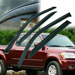 Window-Visor-Rain-Guard-Out-of-Channel-For-Toyota-Tundra-Double-Cab-2004-2006