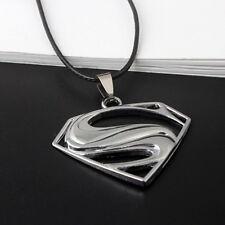Superman Merch Logo Symbol Stainless Steel Pendant Necklace