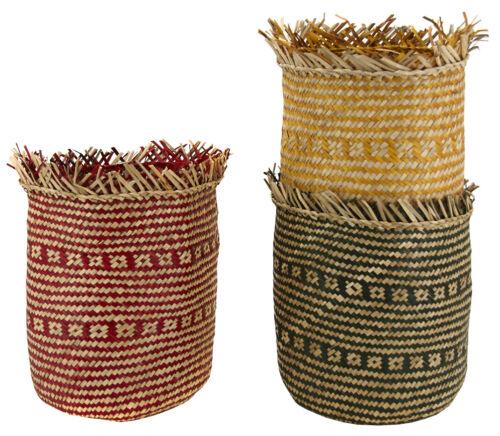 Seagrass Fioriera con frange Boho VASO Eco Friendly ARREDAMENTO RUSH Cesto