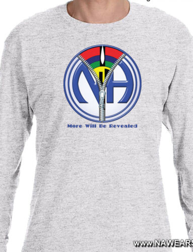 S-3X More Will Be Revealed Long Sleeve T-shirt Narcotics Anonymous