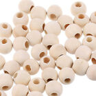 50pcs Wooden Beads Wood Spacer Loose Beads Handmade DIY Crafts Jewelry Making