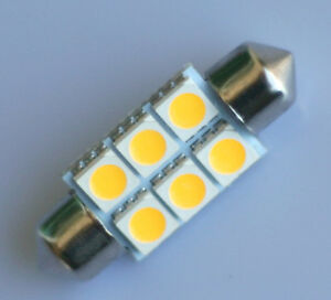 Warm-White-36mm-6-SMD-5050-Car-Interior-LED-Dome-Festoon-Bulb-C5W-Light-12V