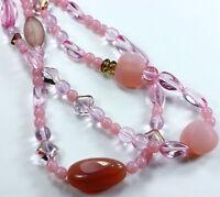 Czech Strung Glass Beads Fairy Rose Mix